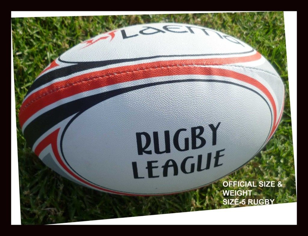 CLUB PIN GRIP RUGBY LEAGUE AND UNION BALL SZ4 CLEARANCE