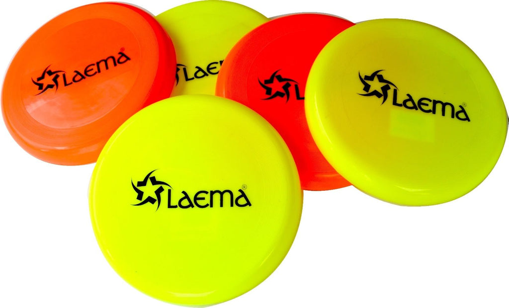 "5 X Ultimate 9"" Quality NEON Frisbee Play Flyer Disc Kids Play Beach Backyard"