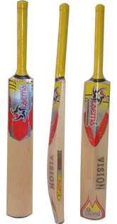 PRO GRADE 1 KASHMIR WILLOW CRICKET BAT BATSMAN LAEMA VISION JUNIOR SIZE-7