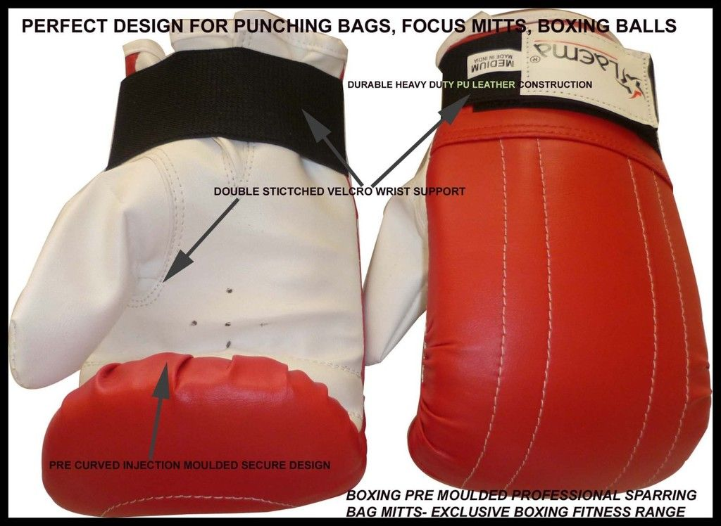 PRO BAG MITTS SPARRING KICK BOXING GLOVES MMA -S M L XL
