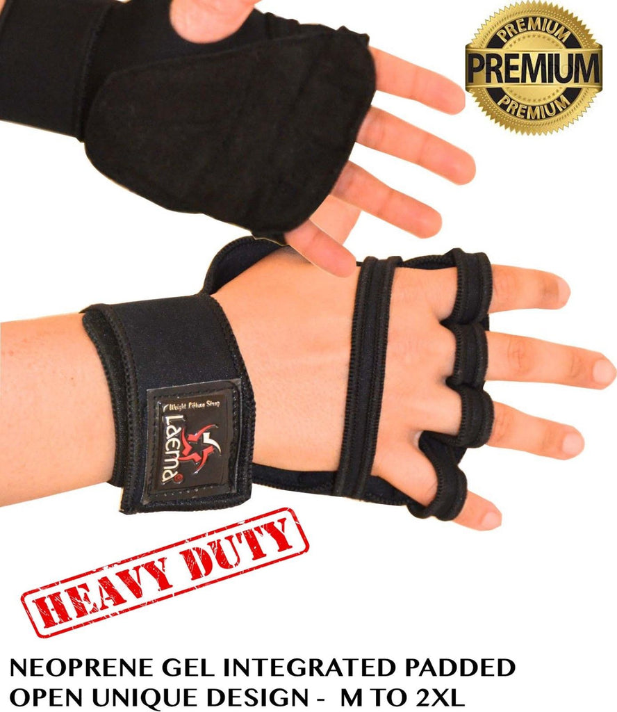 Unique Easy Gel Padded Weight Lifting Training Gym Straps Wrist Support Gloves