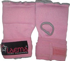 PINK LADIES FEMALE BOXING GLOVE QUICK WRAP INNERS -MMA GYM MUAY-HAND WRAPS