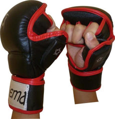 Hybrid Pro MMA Striking Sparring Grappling UFC Kick Boxing Gel Injected Gloves