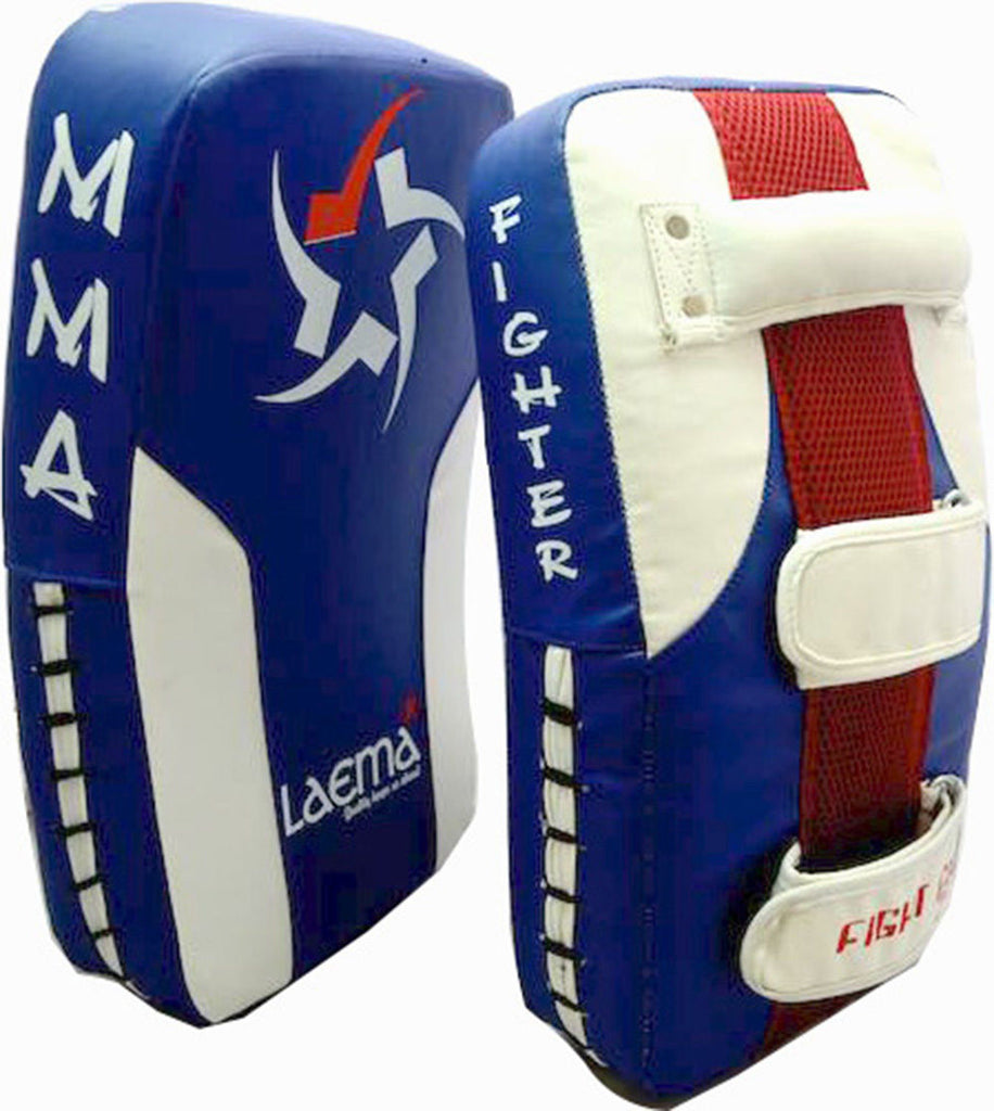 Advance Pro Thai Kick Boxing Curved Arm Pad Muay UFC Gym MMA Focus Punch Shield