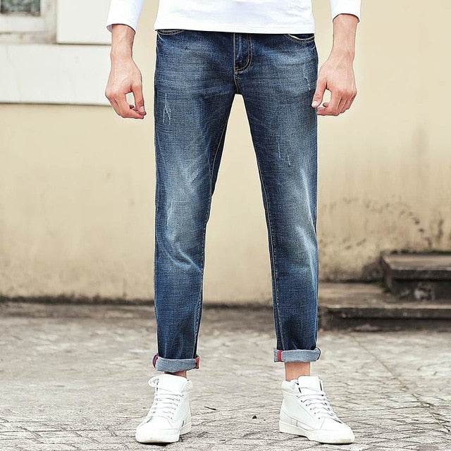 Pioneer Camp Jeans men brand clothing high quality Slim male Casual Pants Quality Cotton Denim trousers For Men 655122