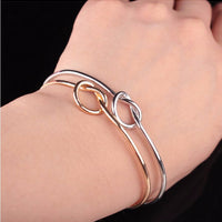 Simple knot bracelet Chic Fashion Simple Knot Bangle Cuff Opening Bracelet Copper Casting Jewelry