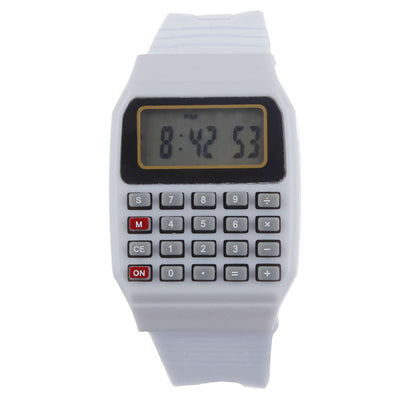 Smilelee Silicone Calculator Multi-Purpose Date Time Electronic Display Children Wrist Watch