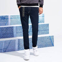 Pioneer Camp new arrival men jeans brand clothing solid small stretch pants male top quality straight male jeans ANZ707020