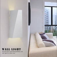 10W Modern Led Wall Light Dual-Head Geometry Wall Reading Lamp