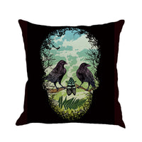 Happy Halloween Pillow Cases Linen Sofa Cushion Cover Home Decor
