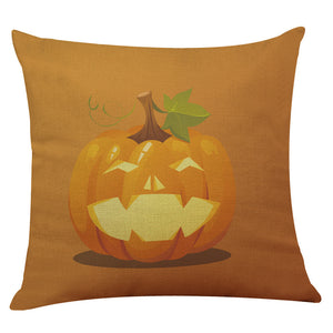 Halloween Pillow Box Linen Sofa Funny Ghost Pad Cushions Home Decoration