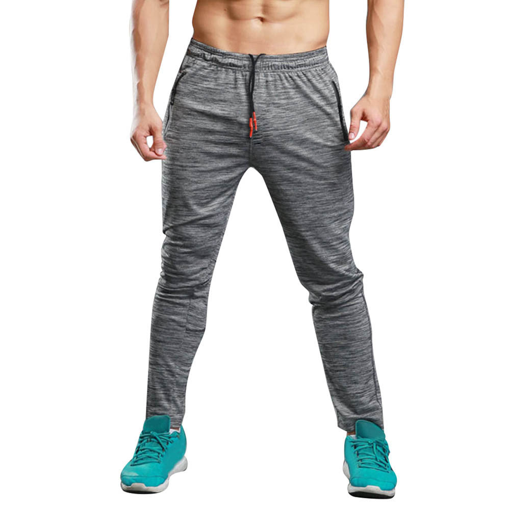 Men Long Casual Sports Pants Gym Slim Fit Trousers Running Jogger Gym Sweatpants