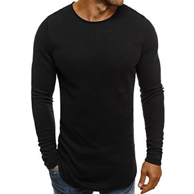 Men Tee Shirt Long Sleeve Gyms Classic T Shirt Solid Tops Bodybuilding Sportswear O-Neck TShirts Slim Fit Leisure Clothing 2018