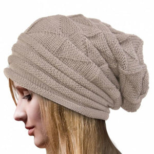 Winter Crochet Hat Wool Knitted Beanie Warm Caps