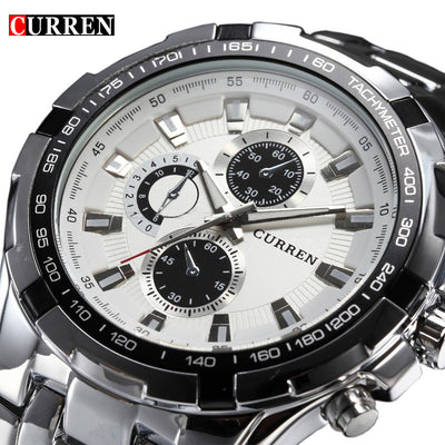 2018 Top Brand Luxury Full Steel Waterproof Watch for Men