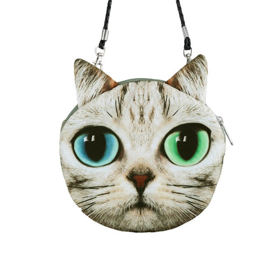 Cute Cat Face Women Shoulder / Messenger Bag