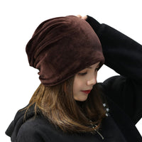 Stylish Women's Velvet Beanie for Fall Fashion