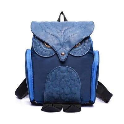 Women's Leather Owl School Backpack