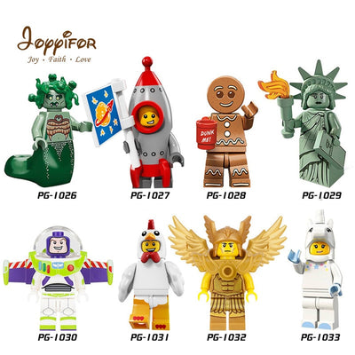 JOYYIFOR 2018 Toy Story LegoINGlys Woody Buzz Lightyear Statue Of Liberty Rex Andy Chen