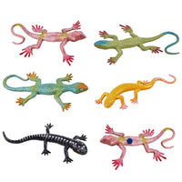 6Pcs Artificial Fake Lizard Practical Jokes Props Realistic Plastic Lizard for Prank Halloween Party