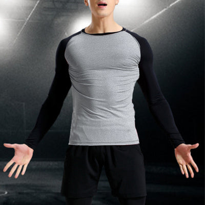 INCERUN Men's T-Shirts Muscle Joggers Workouts Raglan Long Sleeve Slim Fitness TShirt Sweatshirts Male Casual Tee Tops Crossfit