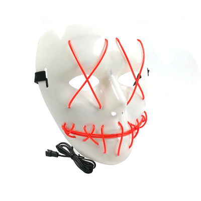 Frightening EL Wire Halloween Cosplay Led Mask Light Up Mask for Festival Parties