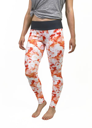 Sporty Floral Mid Rise Leggings