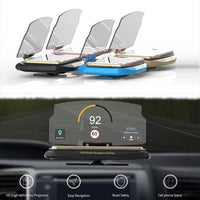 Car HUD Projector Navigation GPS Smartphone Holder with Non-slip Mat