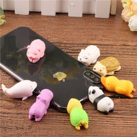 SIANCS COLLECTIBLE Cute Animal Doll Bite Cable Protector for Iphone Wire Holder