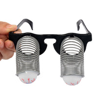 Bloodshot Eyeballs Spring Glasses Horror Shock Funny Disguise Eyeball-Dropping for Halloween Costume Party Fool's Day