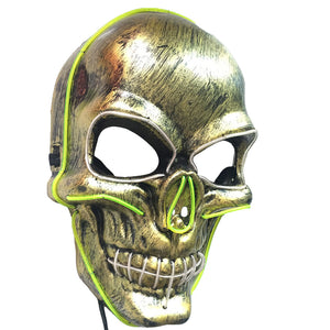 Costume Skull Party Mask El Cold Light Glowing Masks Cosplay Accessory for Halloween