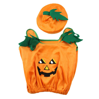 Halloween Orange Pumpkin Plush Costume Unisex Costume Set Party Children Clothing Fancy Dress Up