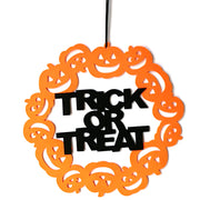 Halloween Non-woven Hanging Trick Or Treat Pumpkins Wall Door Decoration Halloween Party Supplies