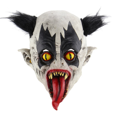 Halloween Cosplay Mask Horrific Mask Creepy Terrifying Toothy Bat Clown Mask