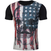 Funny Boys Men Flag Printed Summer Short Sleeve T-Shirts Top Tee Blouse