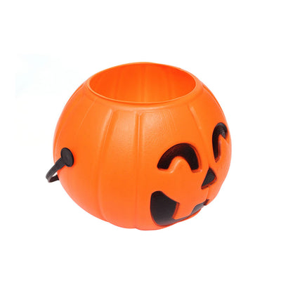 7cm Halloween Portable Pumpkin Bucket Children Trick or Treat Pumpkin Candy Pail Holder