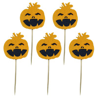 Halloween Cake Decoration Cake Picks Pumpkin Cupcake Toppers Holiday Party Supplies