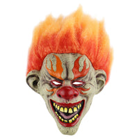 Halloween Cosplay Mask Horrific Mask Creepy Terrifying Toothy Flame Clown Mask