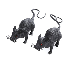 2pcs Realistic Mice Toy Spooky Rat Toy Halloween Prank Toy Creepy Halloween Decor