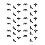 6pcs Halloween Ceiling Hanging Paper Ornaments Witch Ghost and Bat Decoration