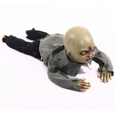 Halloween Crawling Zombie Creeping Zombie Props Horror Bloody Haunted House Yard Scary Decorations With Battery Operated Control
