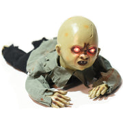 Motion Sensor Creepy Scary Crawling Zombie Baby With Battery Operated Control