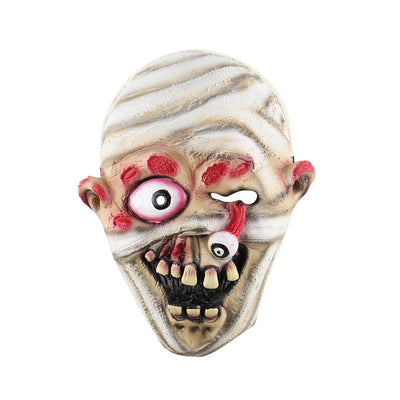 Mummy Mask Halloween Cosplay Costumes Horrific Mask Creepy Terrifying Toothy Ghost Mask