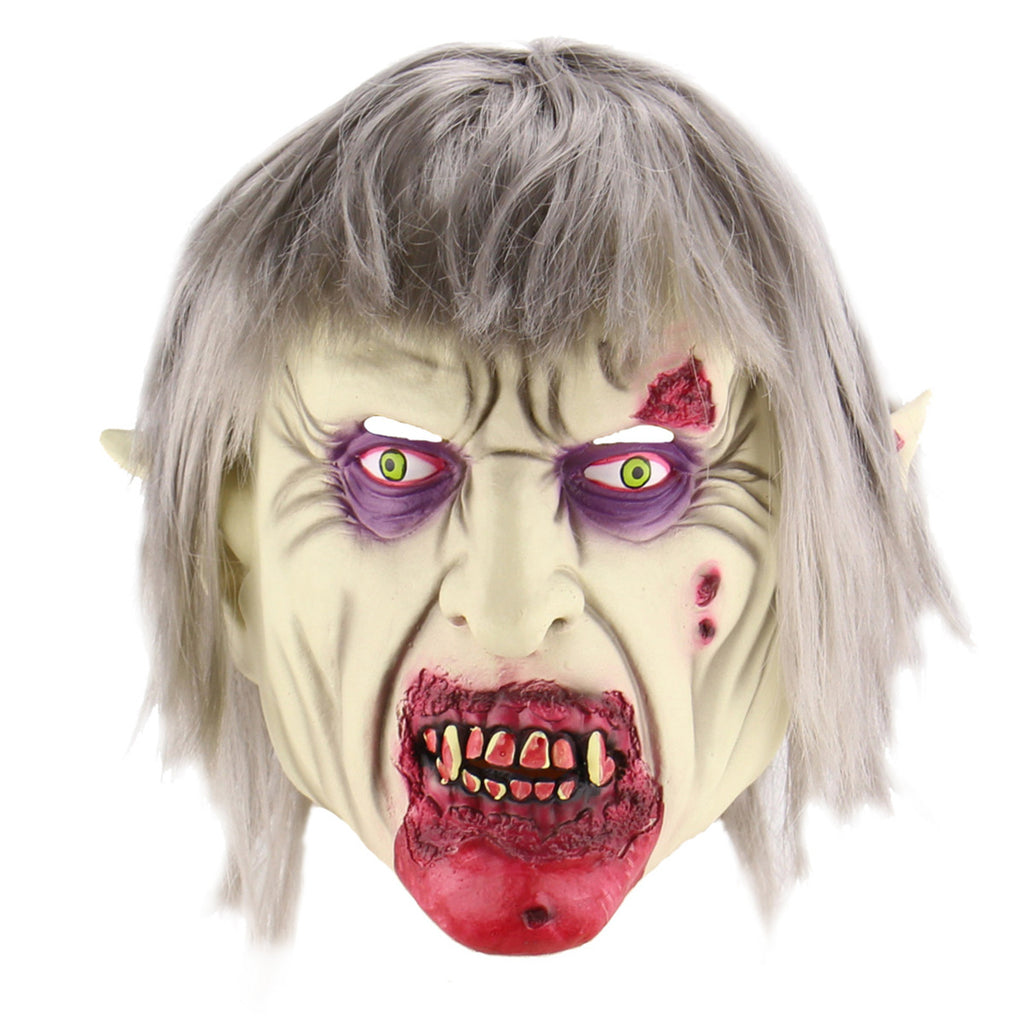 Halloween Cosplay Mask Horrific Mask Creepy Terrifying Toothy Zombie Ghost Vampire Mask