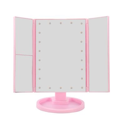 Folding 22 LED Light Makeup Touch Screen Magnifying Mirror