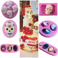 Halloween Skeleton Head Silicone  Decorative Cake Baking Mold