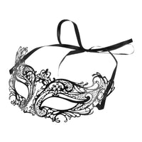 FESTNIGHT Fashionable Silver Laser Cut Metal Half Mask with Rhinestones Masquerade Ball Halloween Mask Fancy Gift