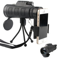 High Powered Magnification Monocular Scope Telescope With Compass Tripod For Smartphone