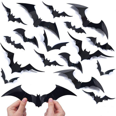 Holloween Wall sticker Black DIY PVC Bat Wall Sticker Decal Home Halloween Decoration Wall Stickers Room Decoration