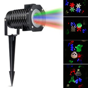 LED Projector Light RGB Lawn Light Landscape Light with 10 Gobo Slides for Xmas Birthday New Year Halloween Party Holiday EU Plug